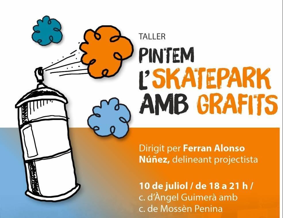 Pintem l'skatepark amb grafits
